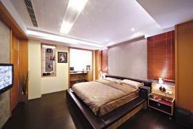 橙色新中式风格卧室装修图片欣赏