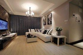 温馨米色现代风格客厅设计图