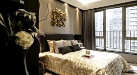 精致时尚黑色现代风格卧室装修案例