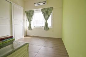 美式绿色窗帘设计图