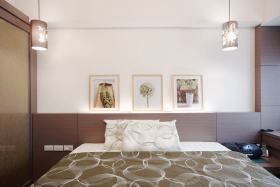 现代卧室床头软装赏析