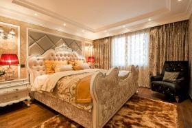新古典华丽黄色卧室效果图赏析