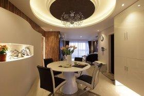 精致轻奢现代风格餐厅吊顶设计欣赏