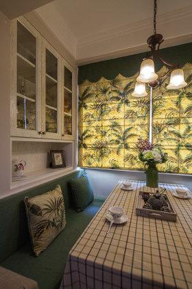 绿色自然美式乡村风格餐厅装潢设计