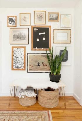 简约舒适照片墙设计装潢