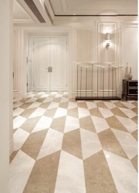米色现代风格玄关地面效果图设计