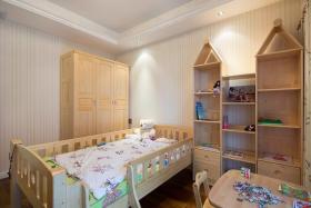 原木色宜家风格儿童房装饰柜设计