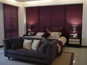 紫色浪漫雅致现代风格卧室图片赏析