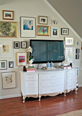 创意混搭白色照片墙装修
