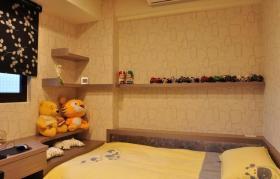 黄色新中式风格儿童房装修图片欣赏