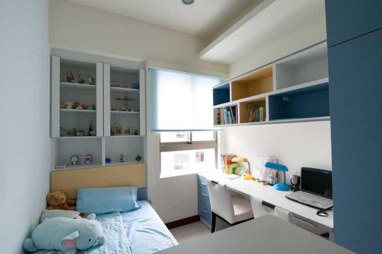 蓝色地中海风格儿童房带书房美图赏析图片