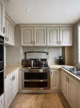 米色现代风格厨房橱柜装修图