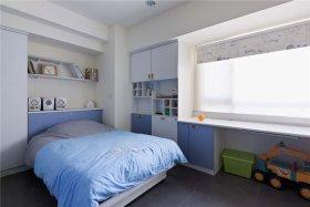 蓝色现代风格儿童房设计