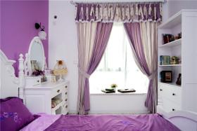 浪漫紫色简欧风格飘窗美图