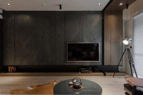 现代风格灰色背景墙装饰图
