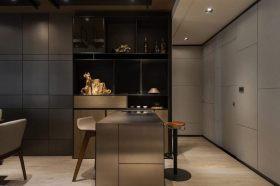 时尚灰色现代风格吧台装潢案例