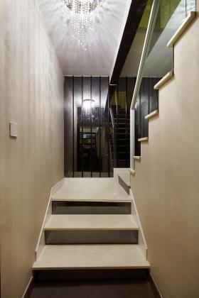 米色时尚现代风格楼梯设计装潢
