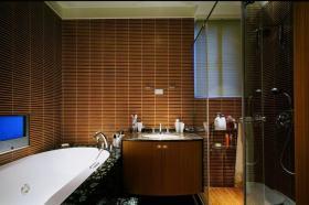褐色东南亚卫生间装饰案例