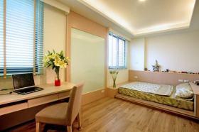混搭风格清爽卧室榻榻米装修设计