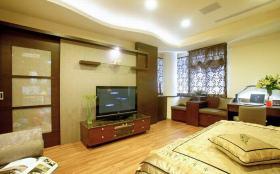 混搭风格卧室电视背景墙装潢设计