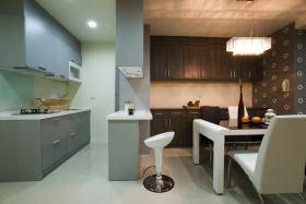 小户型清爽现代风格厨房装饰图