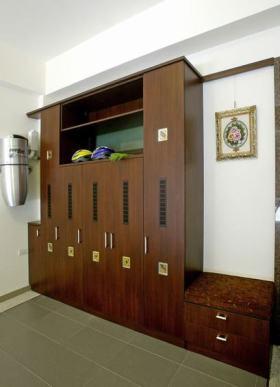 雅致复古东南亚风格多功能收纳柜装饰设计图片