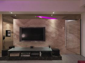 紫色现代风格背景墙设计赏析