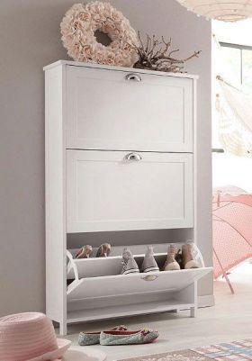 白色简约素雅鞋柜设计装修效果图片