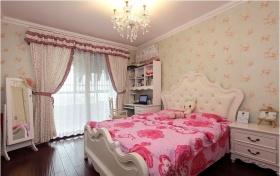 美式清新白色卧室装潢设计