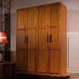 典雅复古原木中式风格衣柜图片赏析