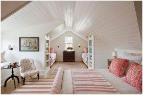 甜美粉色美式阁楼装潢案例