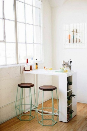 白色现代风格极简吧台装修美图