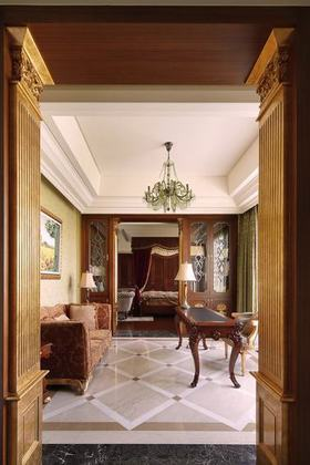 典雅浪漫欧式风格书房设计图