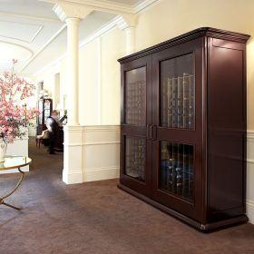 褐色新古典风格酒柜装修效果图