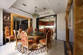 橙色欧式风格餐厅家具设计装潢