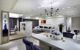 白色现代吧台装潢设计
