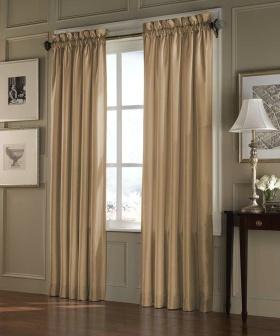 素雅米色精致现代风格窗帘设计图