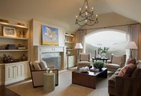 美式风格黄色客厅吊顶效果图设计