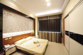 现代风格卧室背景墙装修设计