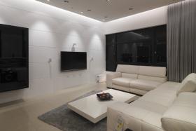 白色简约风格背景墙设计