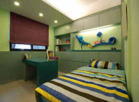 绿色自然创意现代风格儿童房装修布置