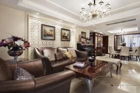 欧式奢华黑色客厅图片赏析