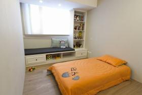 橙色创意现代风格儿童房效果图欣赏