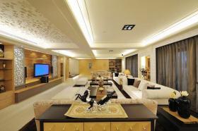 混搭风格温馨黄色客厅美图欣赏