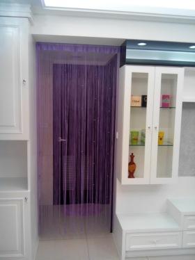 混搭风格紫色玄关装饰案例