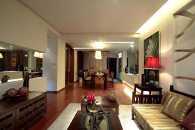 红色古典中式风格客厅赏析