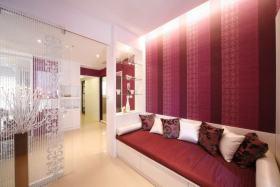 红色现代客厅效果图欣赏
