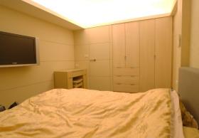 黄色简约现代卧室图片