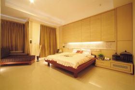 简约风格温馨黄色卧室效果图