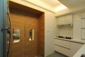 原木色简约风格厨房门装潢案例
